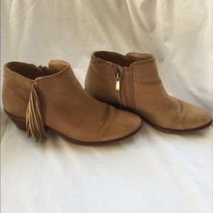 c2e2f1fe0aa13c Sam Edelman Shoes - Sam Edelman Paige Suede Fringe Booties in Honey